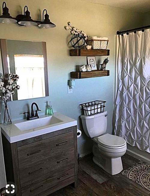 Bathroom Makeover On A Budget Simply Beautiful By Angela Small Bathroom Decor Diy Small Apartment Diy Apartment Decor