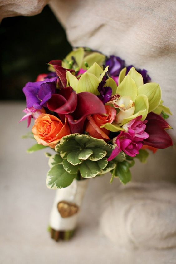 rich, jewel-toned bouquet
