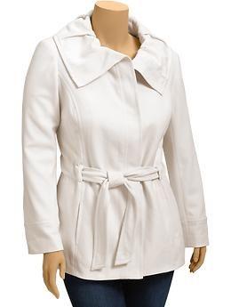 Winter white coat #plus #size