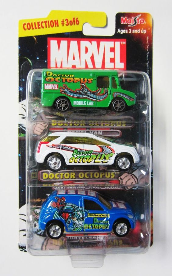 SPIDERMAN Lot / 3 DR OCTOPUS DOC OCK Maisto 1:64 Hotwheels scale Marvel Universe