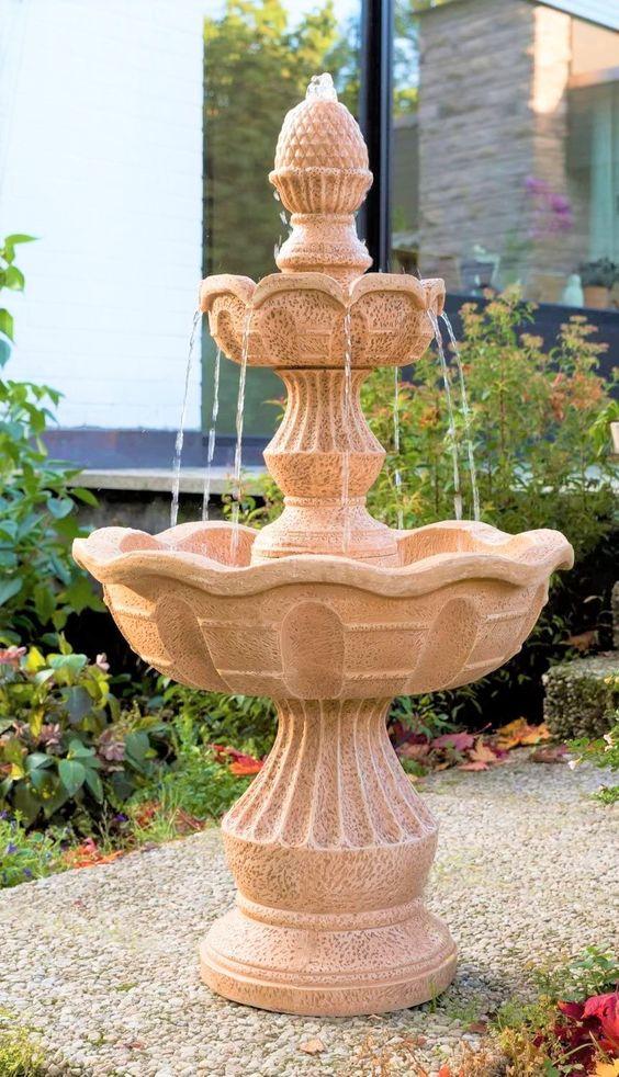 Der wunderschöne Gartenbrunnen bringt Ihnen Romantik in Ihr Heim und Garten! Er ist mit einer laufruhigen Pumpe ausgestattet. Gefertigt ist er aus Polyresin, welches langlebig ist und von echtem Gestein kaum zu unterscheiden ist. Das Wasser läuft mittels Pumpe im eigenen Kreislauf. Springbrunnen inkl. Pumpe... *Pin enthält Werbelink