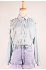 #Chicwish Laidback Mint Shirt