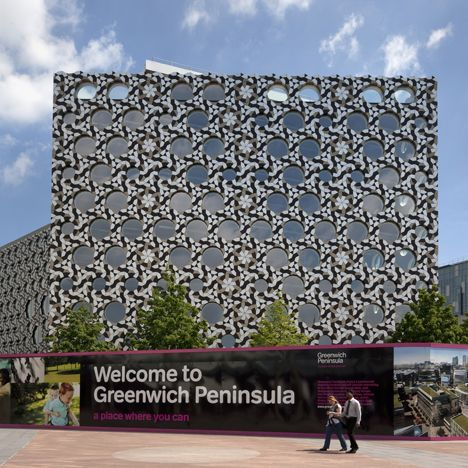 Foreign Office Architects completed in 2010 the new tile-covered campus for Ravensbourne College of Design and Communication, located on the Greenwich Peninsula in London.