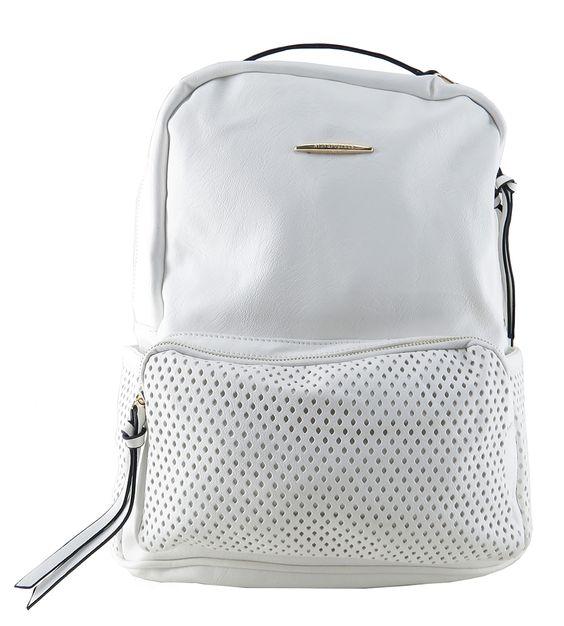 Bolsa Feminina Adidas Branca : Mochila feminina de couro ecol?gico branca para carregar