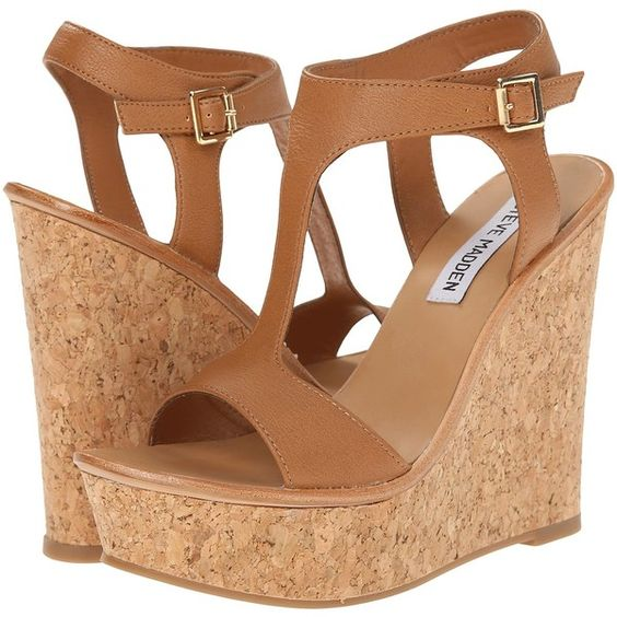 Steve Madden Iluvit Women's Wedge Shoes, Beige ($45) ❤ liked on Polyvore