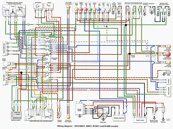 BMW R80 Wiring Diagram Googles�gning Pinterest