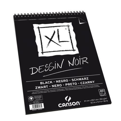 Album Xl Noir A4 40 Feuilles Noel 2k18 Canson Dessin Et