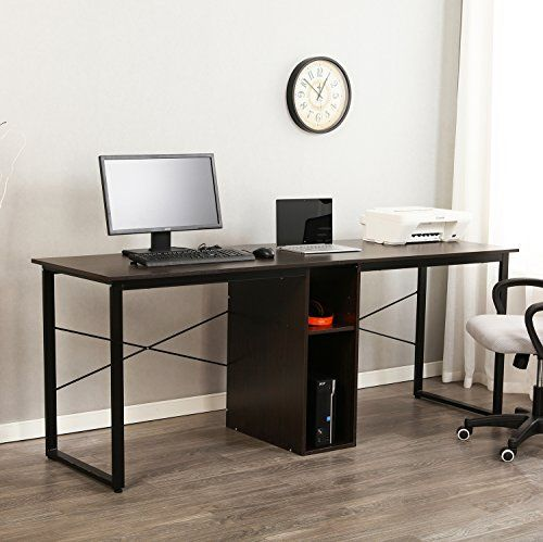 Two Person Workstation Apartment Desk Home Office Space Two