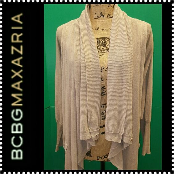 BCBG Cardigan Wrap BCBG Cardigan Wrap Style, Long Sleeves with Front Buttons Closure, Material Blend of Linen& Cotton,  Mint Condition BCBG Sweaters Cardigans