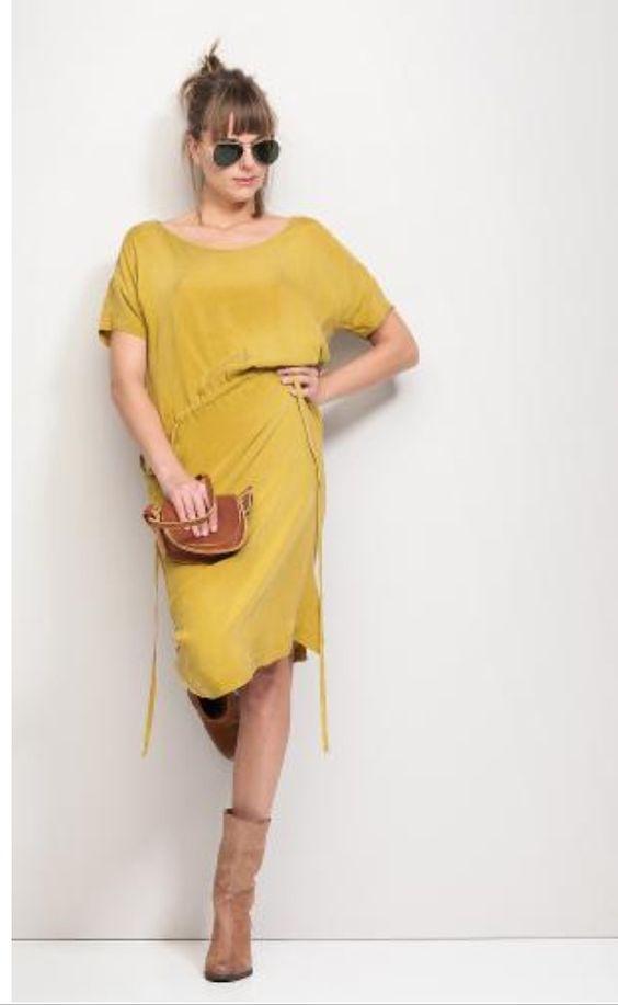 Humanoid lemon jurk