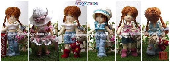 Sarah del ganchillo muñeca patrón diseño de por baannongtookata