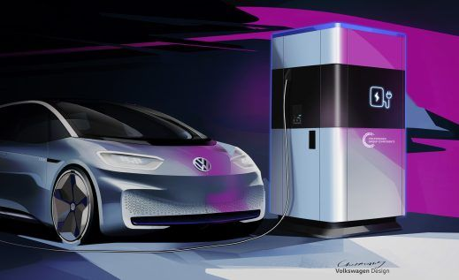 Vw Announces New Mobile Charging Station With 360 Kwh Battery Pack Electric Car Charging Volkswagen Mobile Charging Station