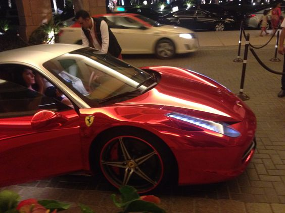 Different shade of Ferrari Red