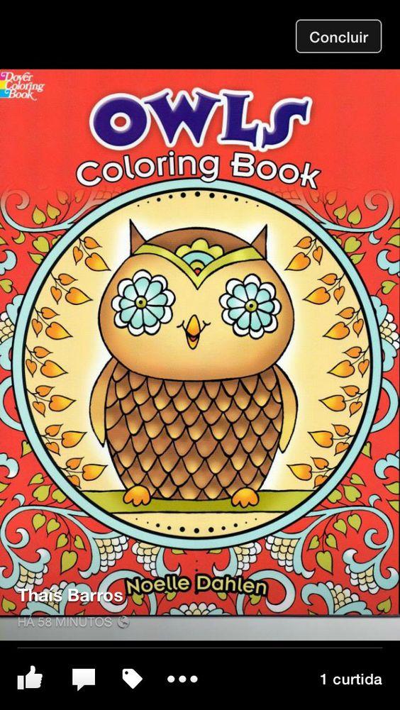 Owls para colorir