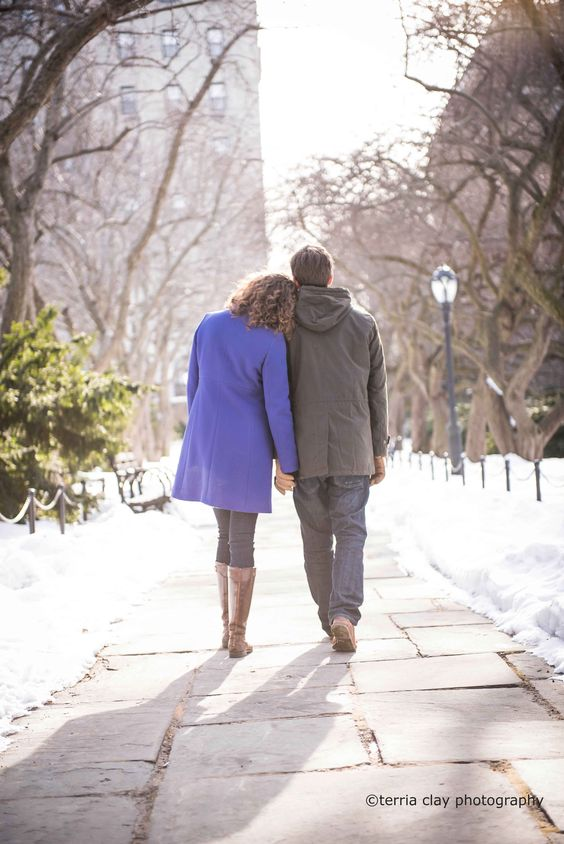 ©Terria Clay Photography-NYC Photographer Sun and Snow filled Winter Engagement Shoot-NYC Central Park North