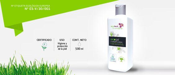 GEL DERMO ECOLÓGICO:  Gel de baño y ducha ecológico formulado en base a ingredientes de origen vegetal de bajo nivel de irritabilidad que limpia respetando la piel dejándola sana y suave.