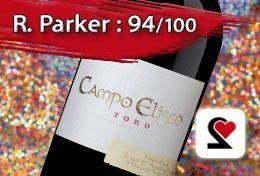 """Campo Eliseo 2004 - Toro Espagne Rouge  Noté 18/20 par notre comité de dégustation à l'aveugle !  Quelques commentaires de nos dégustateurs : """"Hum ! J'aime !"""", """"Une véritable bombe"""", """"Quelle puissance"""", """"Un régal"""", """"Que de fruits, que de gras, que de matière""""....  #Vin #Rouge #Espagne #RParker #RobertParker #CampoEliseo #2004"""