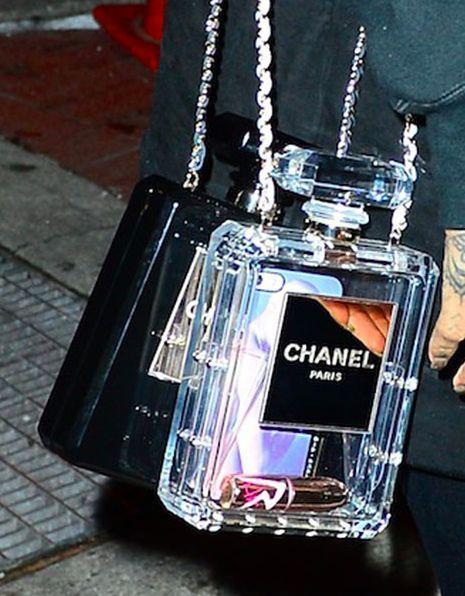 ysl clutch replica - NEW Chanel No. 5 (NO.5) Perfume Bottle Clutch Purse Bag, Black ...
