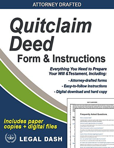 Quitclaim Deed Forms And Instruction Set Of   Products