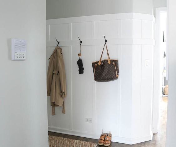 Board and batten adds so much visual interest and impact to an otherwise plain hallway.