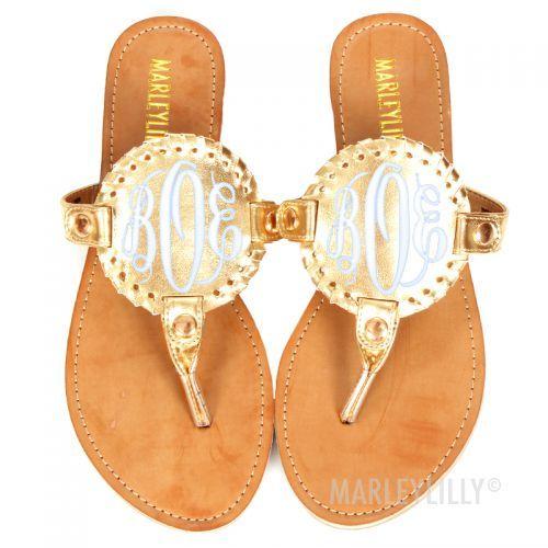 {Marley Lilly Monogram sandals}