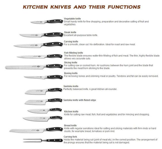 different kind of knife and their uses google search types of kitchen knives list chart graph infographics