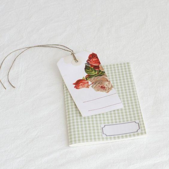 Notizheftchen Vichykaro lindgrün bei la mesa