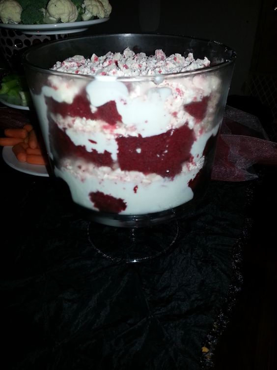 Christmas trifle, Holiday baking and Red velvet cakes on ...