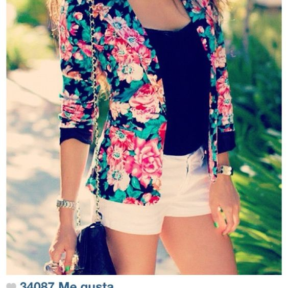 flower,floral,spring,vivid,summer,jacket
