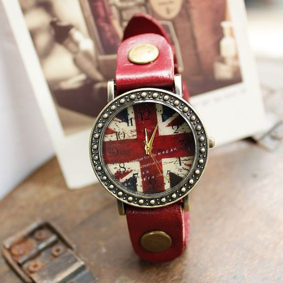 New Fashion Red British Flag Watches on Luulla