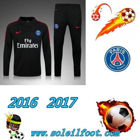 League 1: Survetement De Foot Saint Germain Paris Enfant Noir saison 16 17 Chine…
