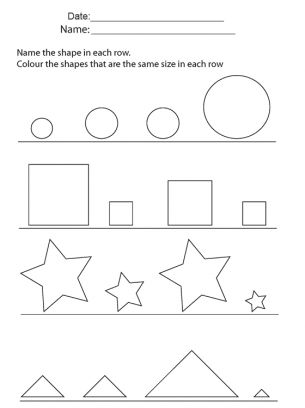 shape size sort printable - Google Search | PRESCHOOL - Triangles ...