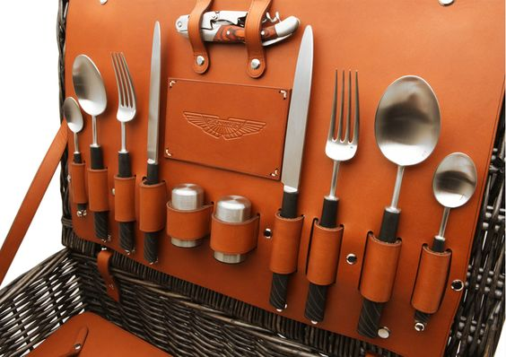 aston. martin picnic basket cutlerypng