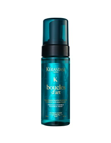 Kerastase's Boucles D'Art creates perfectly defined curls and perfect hold with added shine. Twenty-four hour anti-frizz effectiveness.