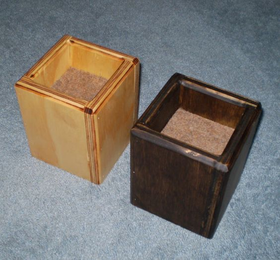 Furniture Risers 4 Inch All Wood Construction Stained