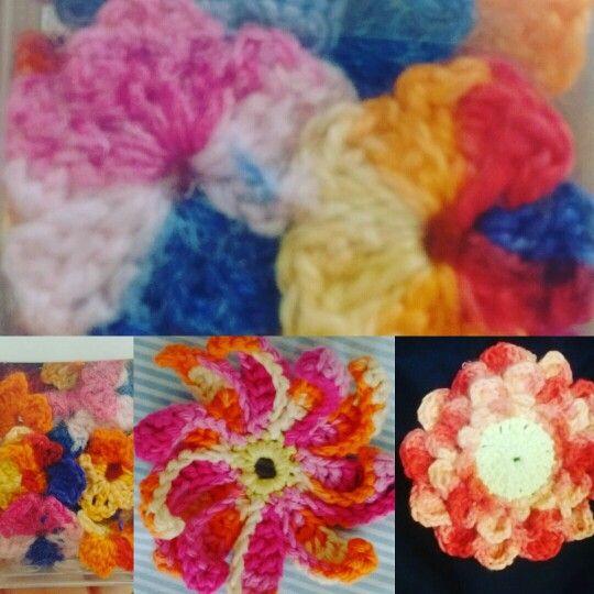 Flores de crochê.