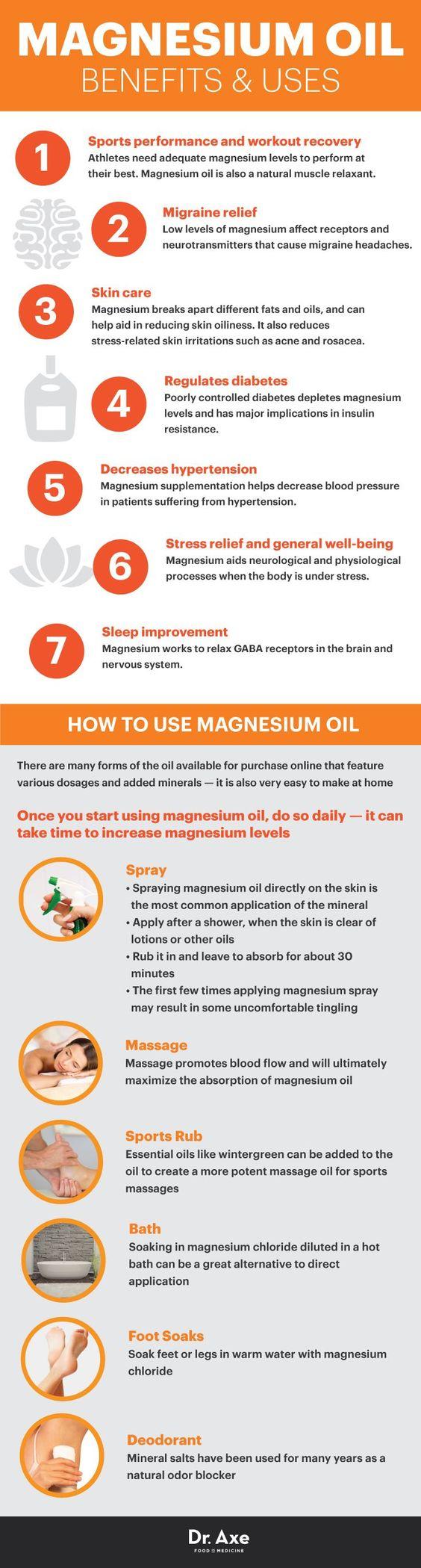 Benefits of Magnesium oil