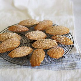 Sweet little French cakey biscuits made with browned butter, orange zest and vanilla bean