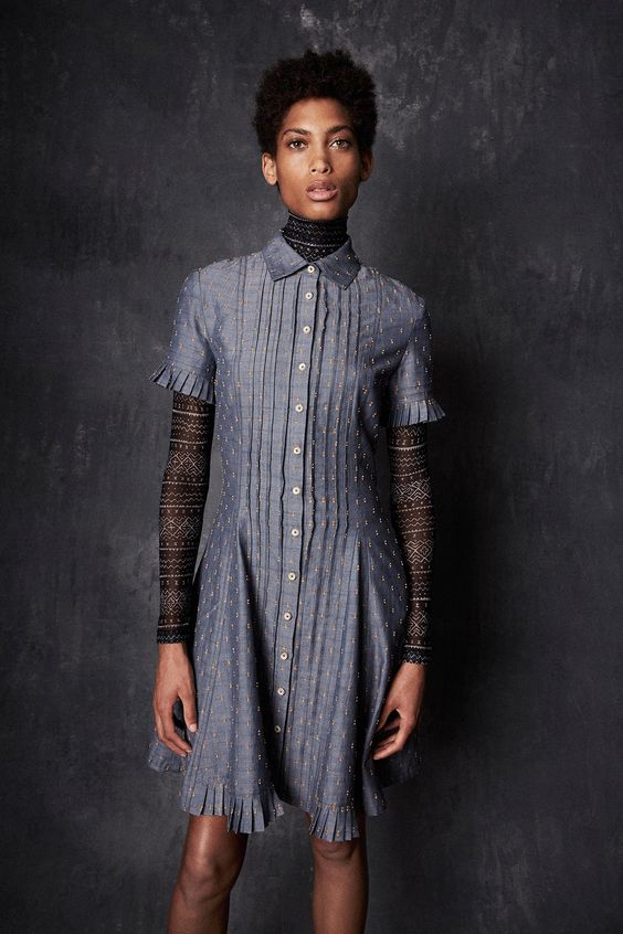 """Yigal Azrouël Spring 2017 RTW his decidedly detailed Spring collection, which, he noted, was inspired by Africa (""""the heritage of humanity"""") and ancient symbols. """"There's kind of a spiritual thing behind it, really,"""" Azrouël said."""
