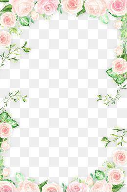 Pin By Pradip On Fondos Vintage Flower Border Png Flower Frame Png Flower Png Images