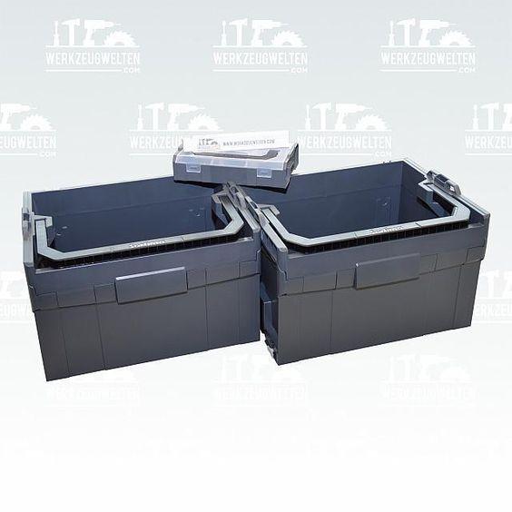 Bosch Sortimo 2er Set LT-Boxx 272  anthrazit -> waeren interessant für Fensterreinigunszubehör / Rasenmäherservicetools / HDReiniger Zubehör <-