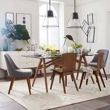 dining room seem bigger and more airy jensen dining table westelm