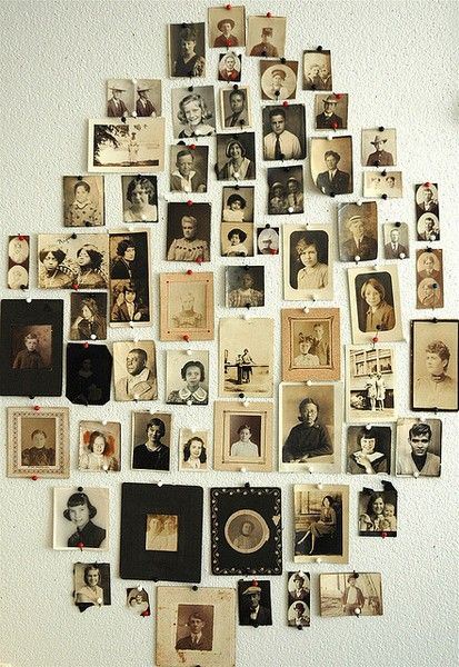 Compulsively Compiled: Freeform  This is a really nice idea for organizing family vintage pictures.