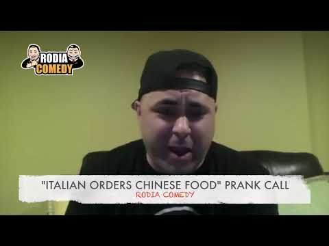 Italian Orders Chinese Food Prank Call By Rodia Comedy Youtube In 2020 Order Chinese Food Food Pranks Chinese Food