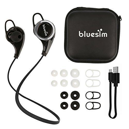 Bluesim Bluetooth Headphones Wireless Earbuds Sweatproof Sports Earphones For Iphone Ipad Samsu Bluetooth Headphones Wireless Wireless Earbuds Bluetooth Device