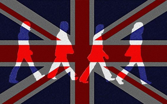 Beatles Abbey Road Flag Photograph