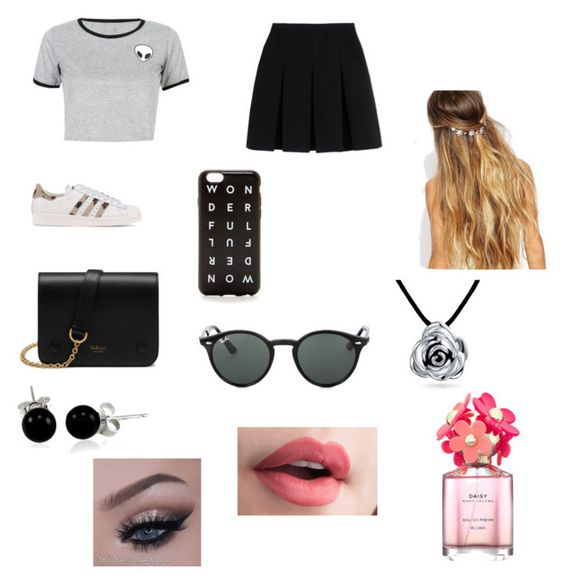 """""""Untitled #75"""" by azharkrymova-1 on Polyvore featuring WithChic, Alexander Wang, adidas Originals, Mulberry, J.Crew, Johnny Loves Rosie, Ray-Ban, Bling Jewelry and Marc Jacobs"""