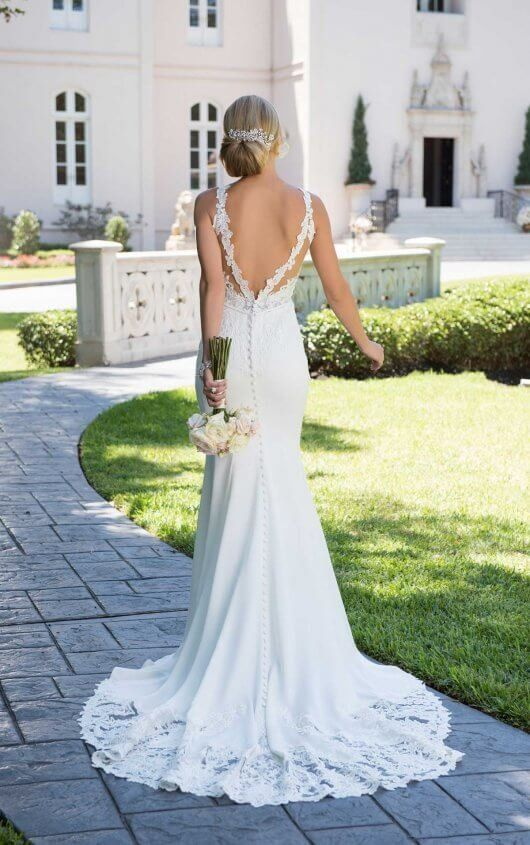 Elegant Backless Wedding Gown Backless Lace Wedding Dress Lace