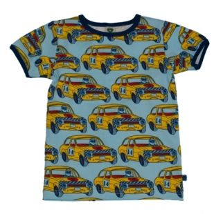 Smafolk  Rally Cars T-shirt (Light Blue)