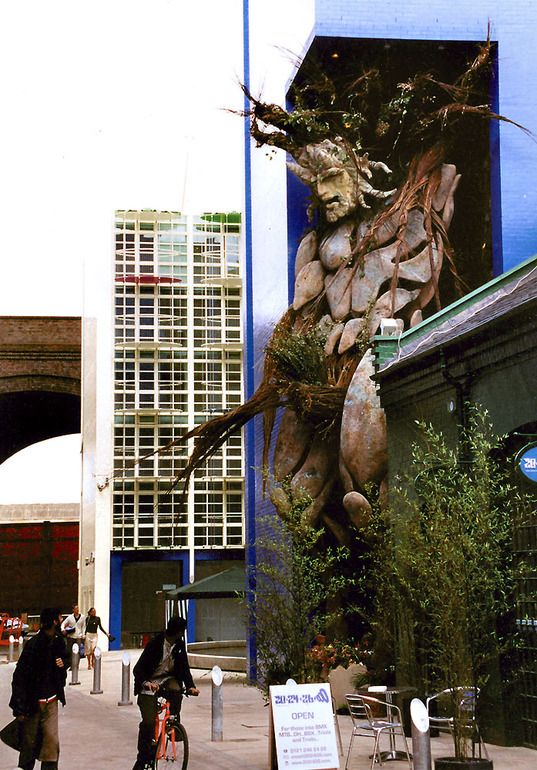 The Green Man - possibly the world's biggest sculpture of the green man....by Toin Adams